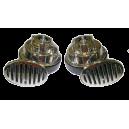 Elektromagnetický dvou-tónový klakson 12V šnek CHROM