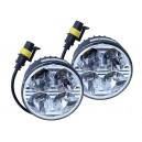 Světla denního svícení 12V/24V kulatá 70 mm Compass 33551