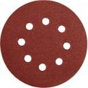 Brusný papír 125 mm P80 s otvory 5 ks suchý zip YATO YT-83453