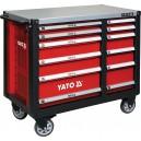 Skříňka dílenská pojízdná 6+6 zásuvek červená YATO YT-09003