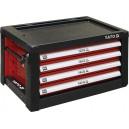 Skříňka dílenská přenosná 4 zásuvky 690x465x400mm červená YATO YT-09152