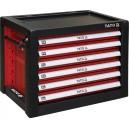 Skříňka dílenská přenosná 6 zásuvky 690x465x535mm červená YATO YT-09155