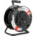 Prodlužovák bubnový 4zásuvky IP44 16A 30 m YATO YT-81053