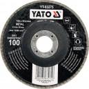 Kotouč lamelový brusný na kov 125x22,4mm P100 YATO YT-83275