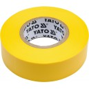 Páska izolační 19 x 0,13 mm x 20 m žlutá YATO YT-81654