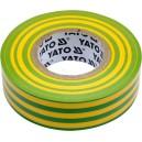 Izolační páska elektrikářská PVC 19mm / 20m žlu zelená YATO YT-81655