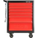 Skříňka dílenská pojízdná 7 zásuvek černo/červená YATO YT-09000