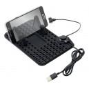 Držák telefonu s podložkou a kabelem micro USB Compass 06259