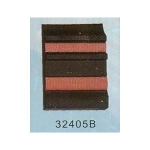 Samolepicí ochranná lišta černá 2x červený pruh 40x6mm 5m