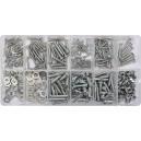 Vruty samořezné, šrouby, matice a podložky sada 347 ks YATO YT-06771
