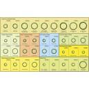 Sada nejpoužívanějších O-kroužků 434 ks / 96 typů