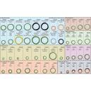 Sada nejpoužívanějších O-kroužků 306 ks / 48 typů