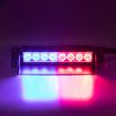 PREDATOR LED vnitřní, 8x LED 1W, 12V, červeno-modrý, 210mm