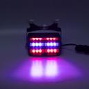 PREDATOR LED vnitřní, 18x LED, 12V, modro-červená, 125mm