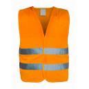 Výstražná reflexní vesta oranžová  EN20471:2013 XL