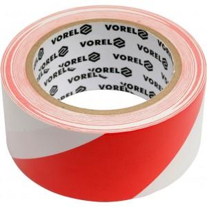 Páska výstražná ČERVENOBÍLÁ 48 mm x 33 m Vorel TO-75230